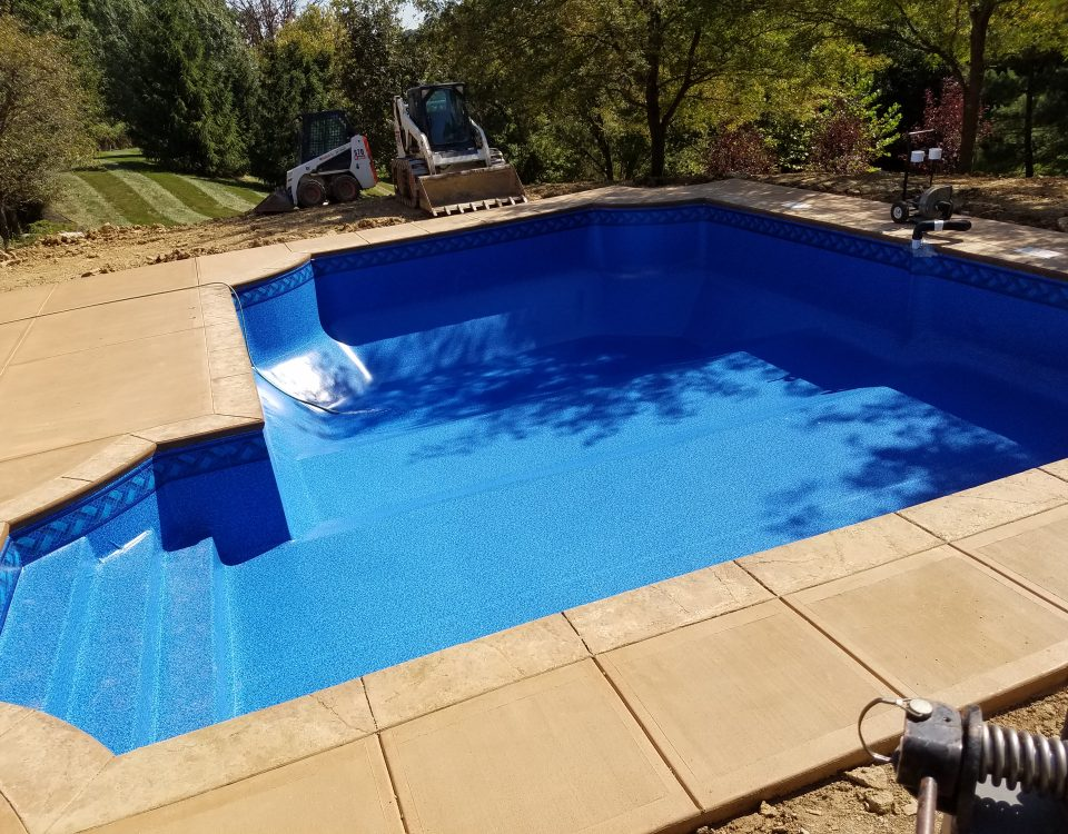 finished in ground vinyl liner pool