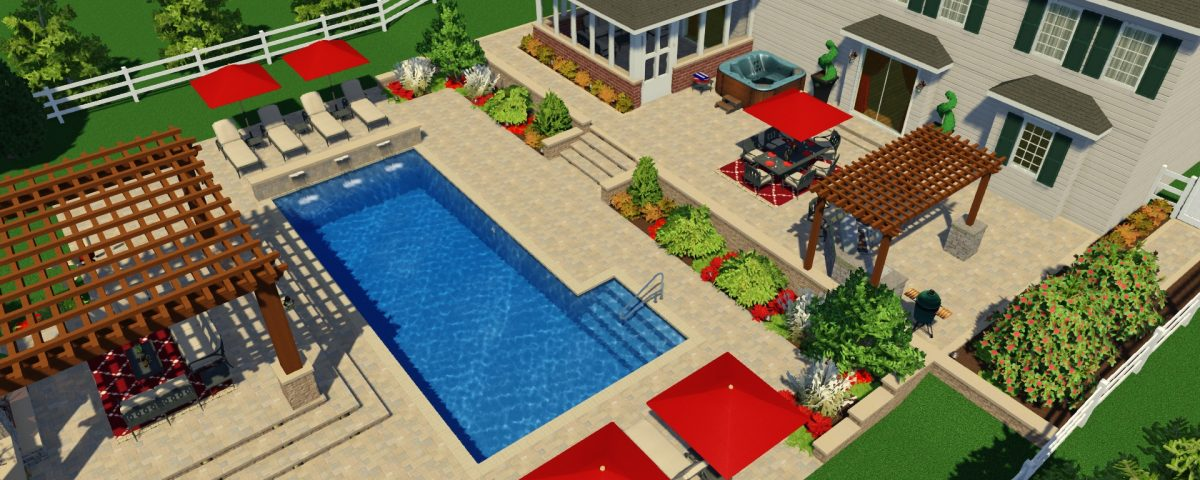 3d pool design services paradise pool and patio for Pool design 3d software